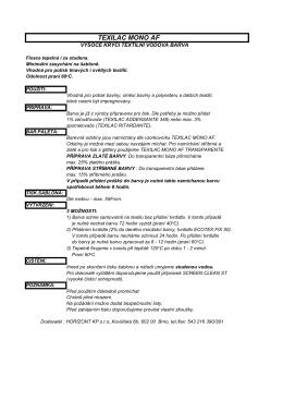 11-Technický list - TEXILAC MONO AF