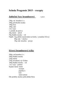 Schola Pragensis 2015 – recepty