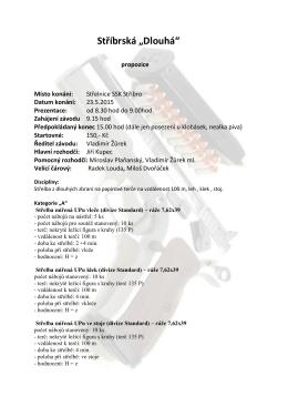 Klubový Střelecký den - Sportovní střelecký klub Stříbro