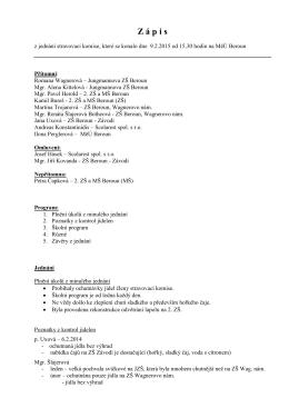 Zápis stravovací komise 9.2.15