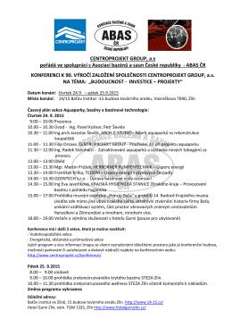 Informace a přihláška na konferenci ()