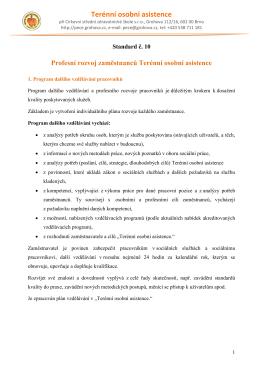 Standard číslo 10 - Profesní rozvoj zaměstnanců