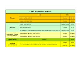 Ceník Wellness & Fitness