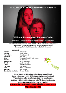 William Shakespere: Romeo a Julie