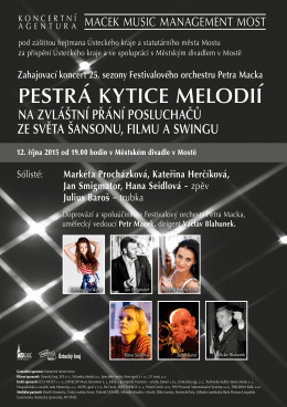 Sólisté: Markéta Procházková, Kateřina Herčíková, Jan Smigmator