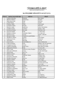 seznam semifinalistů