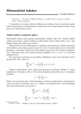 Matematická indukce