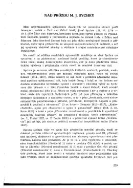 NAD PRÓZOU M. J. SYCHRY