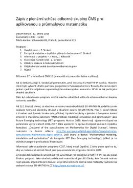 Zápis z plenární schůze odborné skupiny ČMS pro - eu-maths