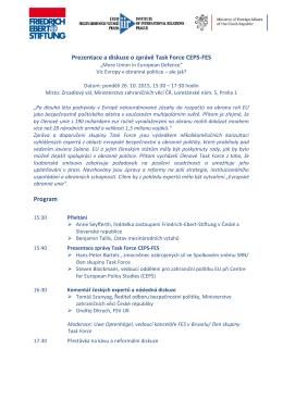 Prezentace a diskuze Präsentation und Diskussion des CEPS