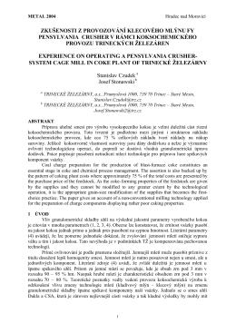 zkušenosti z provozování klecového mlýnu fy pensylvania crusher v