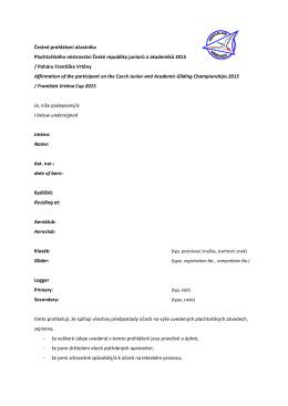 Čestné prohlášení účastníka PMČRj2015_Affirmation