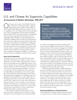 US and Chinese Air Superiority Capabilities