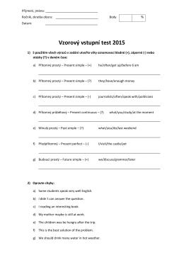 Vzorový vstupní test 2015