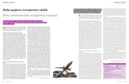 Rizika spojená s transportem zásilek Risks