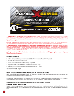 Mamba X Series Driver`s Ed Guide