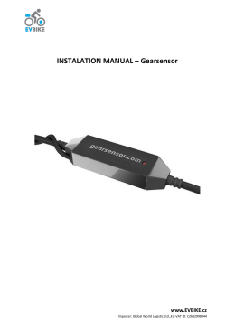 INSTALATION MANUAL – Gearsensor