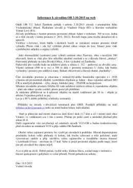Informace k závodům OB 3.10.2015 na web