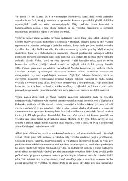 Zpráva z veletrhu Norimberk 2015