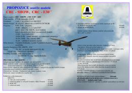 Propozice CRC-SHOW při Zamykání nebe 2015