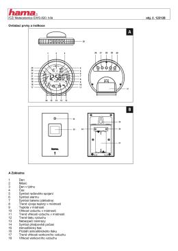 /CZ/ Meteostanice EWS-820, bílá obj. č. 123128 Ovládací