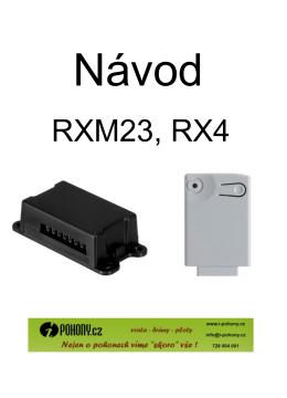 Manuál - přijímač RXM-23  - i