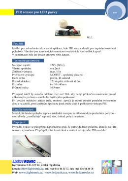 PIR senzor pro ledpásky