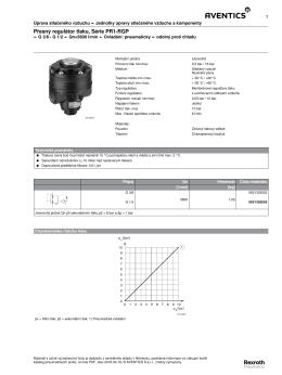 Přesný regulátor tlaku, Série PR1