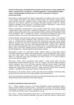 1 Stanovisko Sdružení pro stavebněhistorický průzkum k návrhu