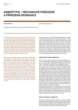 ambrotypie – mechanické poškození a přirozená degradace
