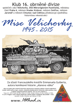 Mise Velichovky 1945 - 2015