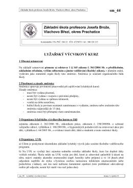 sm_44 Lyžařský výcvikový kurz - Základní škola Vlachovo Březí