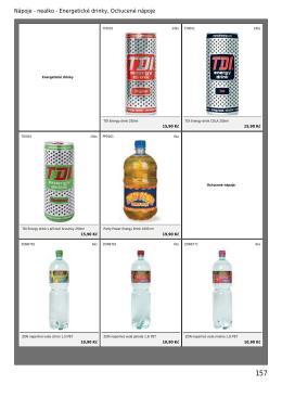 Nápoje - nealko - Energetické drinky, Ochucené nápoje