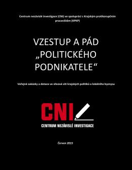 """VZESTUP A PÁD """"POLITICKÉHO PODNIKATELE"""""""