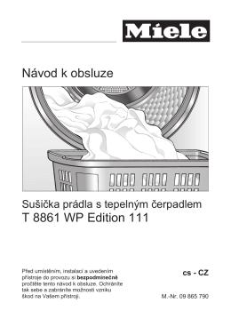 Návod k obsluze T 8861 WP Edition 111