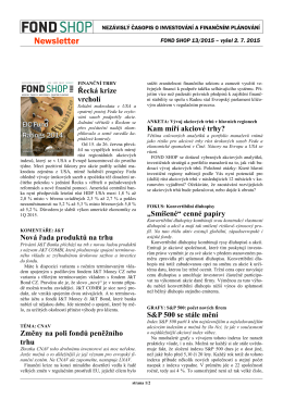 Newsletter FOND SHOP 13-2015
