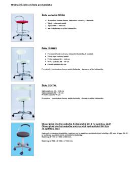 Ordinační židle a křesla pro kardiaky Židle - Chironax