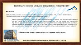 Pozvánka na besedu a výtvarné dílny v Domě knih 14.5.2015