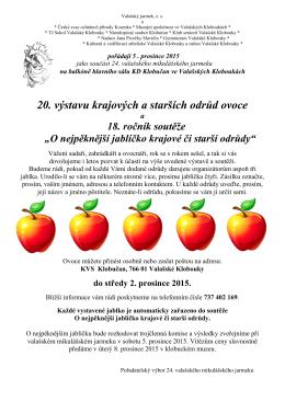 O nejpěknější jablíčko krajové či starší odrůdy