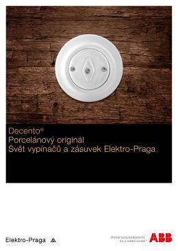 Decento® Porcelánový originál Svět vypínačů a zásuvek Elektro