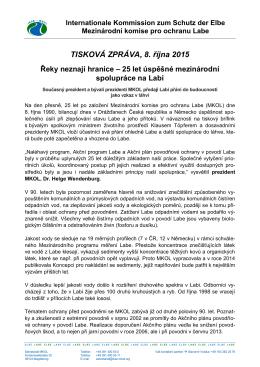 2. zpráva Akční plán povodňové ochrany v povodí Labe