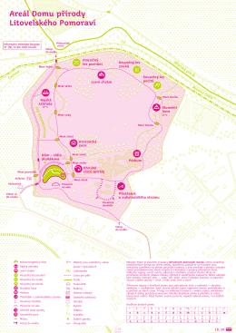 Mapa areálu Dům přírody Litovelského Pomoraví