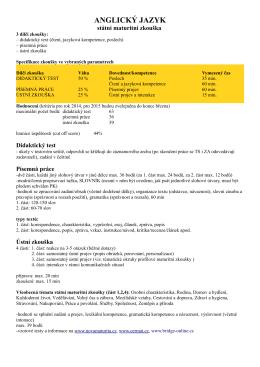 Státní maturita - informace ()