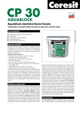 Technický list – Ceresit CP 30 Aquablock