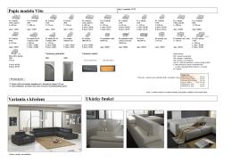 Popis modelu Vito Varianta s křeslem Ukázky funkcí