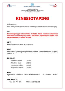 KINESIOTAPING - Slezská nemocnice v Opavě, po