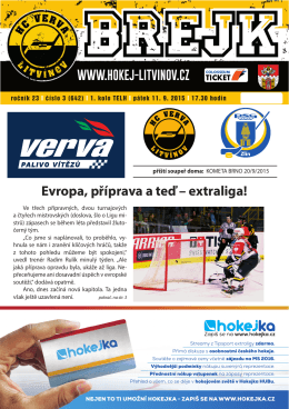strany 1 až 8 - HC VERVA Litvínov