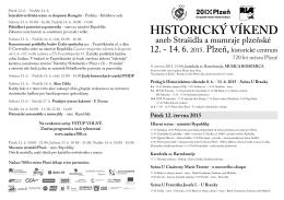HISTORICKÝ VÍKEND - Nadace 700 let města Plzně