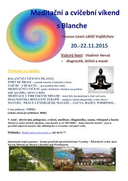 Meditační a cvičební víkend s Blanche Penzion