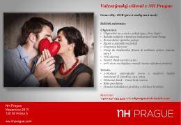 Valentýnský víkend v NH Prague